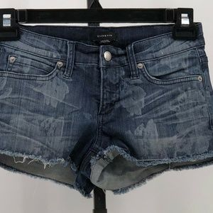 bebe denim cutoff jean shorts sz 26